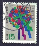 Stamps Germany -  75 Anivrs. 1 Mayo