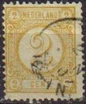 Sellos del Mundo : Europa : Holanda : HOLANDA Netherlands 1876-94 Scott 36 Sello Serie Basica Numeros Usado