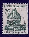 Stamps Germany -  Castillo SOEST (WESTFALIA)