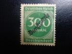 Sellos del Mundo : Europa : Alemania : con placa de imprecion los numeros en el distrito