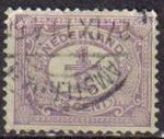 Sellos del Mundo : Europa : Holanda : Holanda 1898-1924 Scott 055 Sello Serie Basica Numeros usado Netherlands
