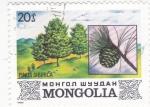 Sellos de Asia - Mongolia -  PINUS SIBIRICA