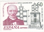Stamps : Europe : Spain :  150 ANIV.DE LA LINEA TELEGRAFICA OPTICA (29)