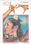 Stamps : Europe : Spain :  CARMEN AMAYA-MUJERES CELEBRES (29)