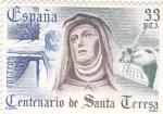Stamps : Europe : Spain :  CENTENARIO DE SANTA TERESA (29)venta