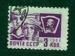 Stamps Russia -  Jobentud y Lenin
