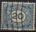 Sellos de Europa - Holanda -  Holanda 1898-1924 Scott 109 Sello º Cifras Numeros 20c Pays Bas Netherlands Holland Hollande Olanda