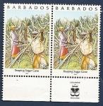 Stamps America - Barbados -  Cortando caña de azucar