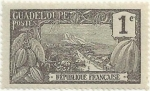 Stamps America - Guadeloupe -  EMISIONES DE 1905-07. MONTE HOUËLMONT, VALOR FACIAL 1 ct. YVERT GP 55