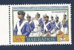 Sellos del Mundo : America : Barbados : Centenario del cuerpo de cadetes - Toy soldier band
