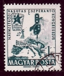 Stamps Hungary -  14 Congre. Intrn. Ferrocarril