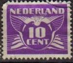 Stamps Netherlands -  HOLANDA Netherlands 1924-26 Scott 179 Sello Gull Gaviota Usado