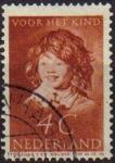 Sellos de Europa - Holanda -  HOLANDA Netherlands 1937 Scott B100 Sello niños bienestar de la infancia Usado