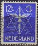 Sellos de Europa - Holanda -  HOLANDA Netherlands 1938 Scott 200 Sello Estrella, Paloma y Espada Usado