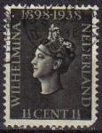 Sellos de Europa - Holanda -  HOLANDA Netherlands 1938 Scott 209 Sello Reina Wihelmina Usado