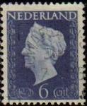 Stamps Netherlands -  HOLANDA Netherlands 1947 Scott 289 Sello Reina Guillermina Usado
