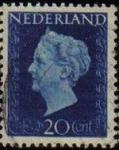 Sellos de Europa - Holanda -  HOLANDA Netherlands 1947 Scott 295 Sello Reina Guillermina Usado