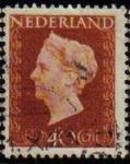 Sellos de Europa - Holanda -  HOLANDA Netherlands 1947 Scott 301 Sello Reina Guillermina Usado