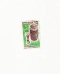 Stamps Africa - Central African Republic -  TAMBOUR ET SLECE