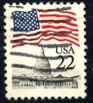 Sellos de America - Estados Unidos -  USA_SCOTT 2114.03 BANDERA SOBRE EL CAPITOLIO. $0,2