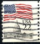 Stamps United States -  USA_SCOTT 2115.05 BANDERA SOBRE EL CAPITOLIO. $0,2