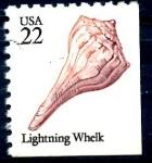 Stamps United States -  USA_SCOTT 2121.01 LIGHTNING WHELK. $0,2