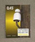 Sellos de Europa - Portugal -  100 Años primera linea telefónica Lisboa-Oporto