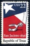 Sellos de America - Estados Unidos -  USA_SCOTT 2204 150º ANIV REPUBLICA DE TEXAS. $0,2