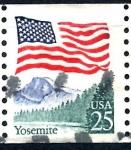 Stamps United States -  USA_SCOTT 2280.03 BANDERA Y PARTE NACIONAL YOSEMITE. $0,2