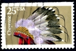 sello : America : Estados_Unidos : USA_SCOTT 2502 TOCADO INDIO CHEYENNE. $0,2