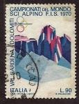 Stamps Italy -  Campeonato del mundo ski alpino