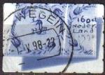 Sellos del Mundo : Europa : Holanda : HOLANDA Netherlands 1998 Scott 984 Sello Priority Stamps Azulejos con imágenes de veleros Usado Mich