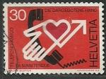 Stamps Switzerland -  Mano tendida