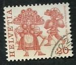 Stamps Switzerland -  Trages regionales