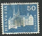 Stamps Switzerland -  Castillo de NEUCHATEL