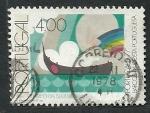 Stamps Portugal -  Barco en la costa portuguesa