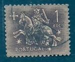 Sellos de Europa - Portugal -  Caballero Mediebal