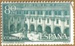 Sellos de Europa - España -  Monasterio de Samos - Claustro