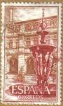 Sellos de Europa - España -  Monasterio de Samos - Patio