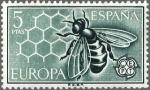 Sellos de Europa - España -  ESPAÑA 1962 1449 Sello Nuevo Europa CEPT Abeja en Panal de Miel Yv1283