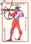Stamps Madagascar -  BIATLÓN -ILUSTRACIÓN-