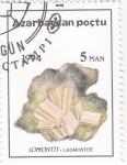 Sellos de Asia - Azerbaiyán -  MINERAL-LAUMONTITA