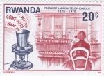 Sellos de Africa - Rwanda -  CENTENARIO PRIMERA COMUNICACIÓN TELEFONICA