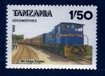 Sellos de Africa - Tanzania -  Tren 64 class Engine