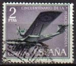 Sellos de Europa - España -  ESPAÑA 1961 1402 Sello Aniversario de la Aviación Española Hidroavion Plus Ultra