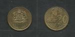monedas de Africa - Marruecos -  Flor y asfera terrestre