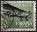 Sellos de Europa - España -  ESPAÑA 1961 1403 Sello Aniversario de la Aviación Española Avión Jesús del Gran Poder Usado
