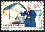 sello : Europa : Andorra : ANDORRA_SCOTT 216.01 MUJER CON CUBOS DE AGUA $0,2