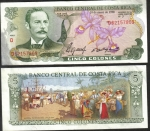 monedas de America - Costa Rica -  5 Colones