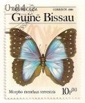 Stamps Africa - Guinea Bissau -  Mariposas. Morpho menelaus terrestris,
